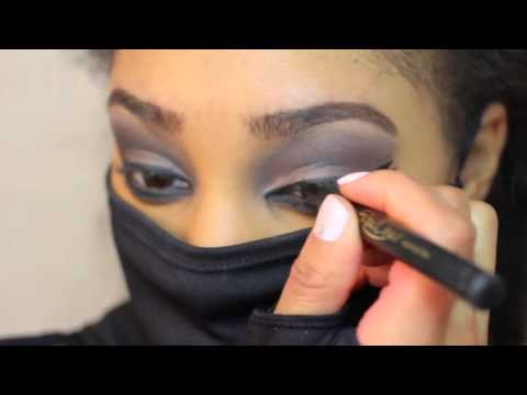 beauty tutorial makeup ninja women wearing mask ninja