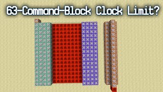 [Experiment] Are The New Command Block Affected By the 63-Command-Block Clock Limit?
