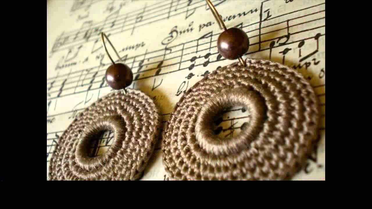easy crochet earrings pattern - YouTube
