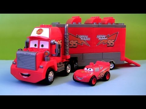 Cars Mega Bloks Mack Truck Hauler LEGO Buildable Toys Lightning McQueen Epic Review Disney Blocks