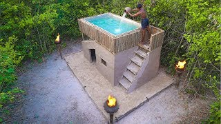 How To Build Amazing Modern Mud Villa House and Swimming Pool in Deep Jungle
