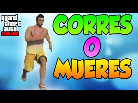 CORRES O MUERES (Nuevo Modo De Juego) - Gameplay GTA 5 Online Funny Moments (GTA V)