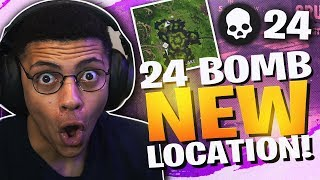 24 KILLS AT *NEW* LEAKY LAKE! CRAZY HIGH KILL SOLO (Fortnite BR Full Match)