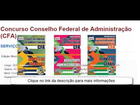 Edital e Apostila Concurso Conselho Federal de Administração (CFA) - 2015