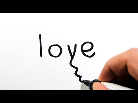 How to Draw a Man and Woman from Word Love (Wordtoon)