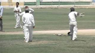 S A Khan Fielding and Bowling 19-04-2011 at Asghar Ali Shah