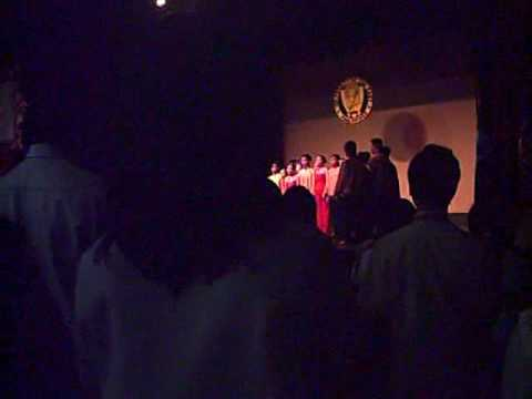 accounting lecture series - ue chorale sings doxology and philippine national anthem