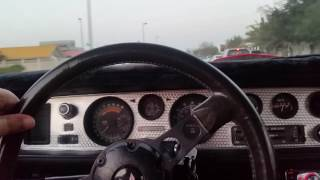 1980 Pontiac Firebird cruising in Dubai UAE