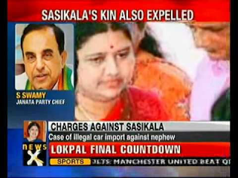Jayalalithaa expels close aide Sasikala from AIADMK