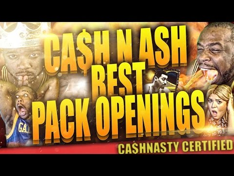 Cash N Ash Best Pack Openings Moments Compilation! NBA 2k15 MyTeam Pack Openins