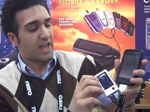 Greenpeace and Green Gadgets at CES 2009  Solar Phone Chargers