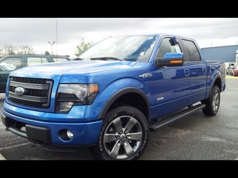 SOLD.2013 FORD F-150 FX4 LUXURY SUPERCREW 4X4 3.5 BLUE FLAME AT FORD OF MURFREESBORO 888-439-1265