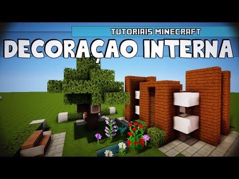 Tutoriais Minecraft: Decoração Interna da Casa Moderna 08x08