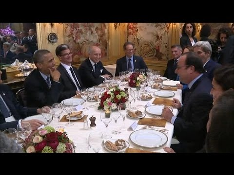 COP21: Obama et Hollande dînent au restaurant