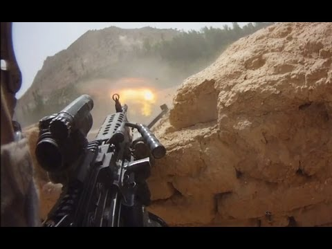 FIREFIGHT ON HELMET CAM IN AFGHANISTAN - PART 1 | FUNKER530