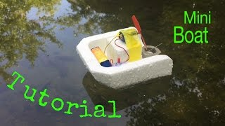 How to Make a Simple Electric Boat - Tutorial