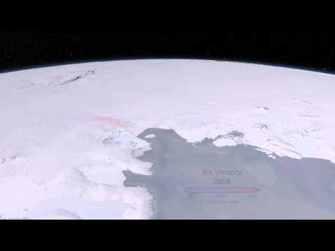 West Antarctic Glacier Ice Flows and Elevation Change