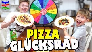 GLÜCKSRAD PIZZA CHALLENGE 🤣 Mystery Wheel of Pizza 👦Bro vs Bro 😁 TipTapTube Family 👨‍👩‍👦‍👦