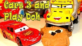 Pixar Cars 3 Lightning McQueen as Play Doh Chester Whipplefilter and Miss Fritter Surprise Ending