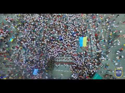 Кременчук Парад вишиванок День Незалежності України - 25 роів м. Кременчук fly drone