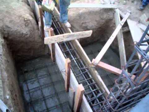 Zapatas de cimentacion youtube - Construir una casa precio ...
