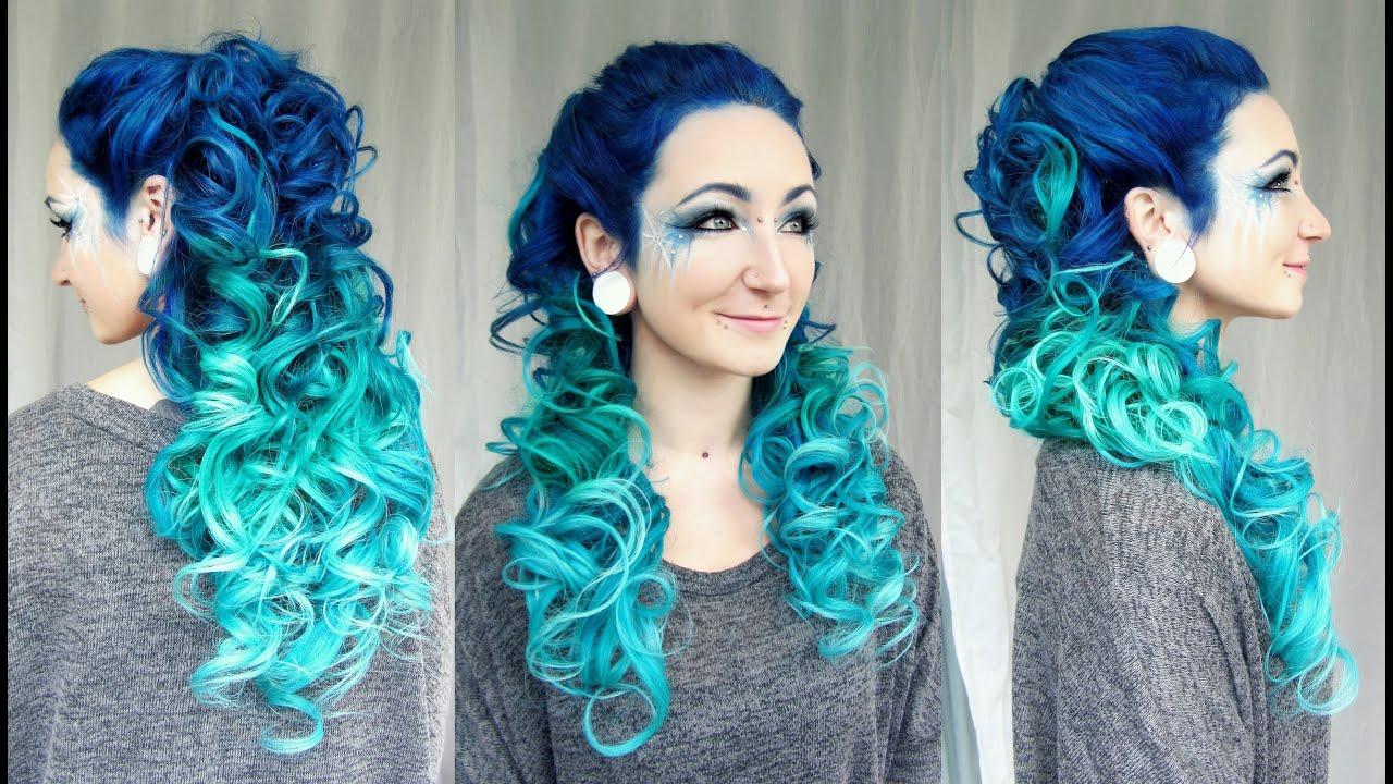 Как покрасить волосы в синий цвет: шевелюра голубого холодного оттенка 16