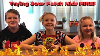 🔥 Sour Patch Kids FIRE! Taste Testing Review, How HOT are they? 🔥