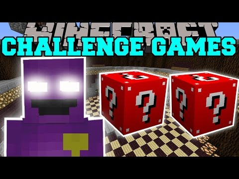 Minecraft: PURPLE MAN CHALLENGE GAMES - Lucky Block Mod - Modded Mini-Game