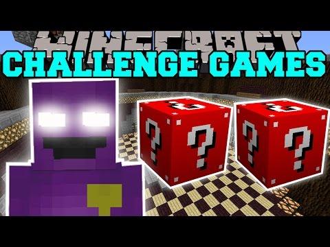 Minecraft: Purple Man Challenge Games - Lucky Block Mod - Modded Mini-game video
