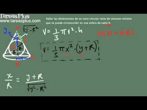 Aplicación máximos y mínimos (Cono circunscrito) 1