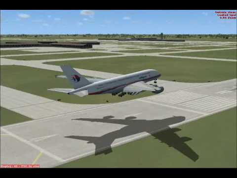 Flight Simulator:X Malaysia Airlines A380 Finally Arrived In Malaysia