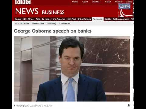 George Osbourne Speech To Banks