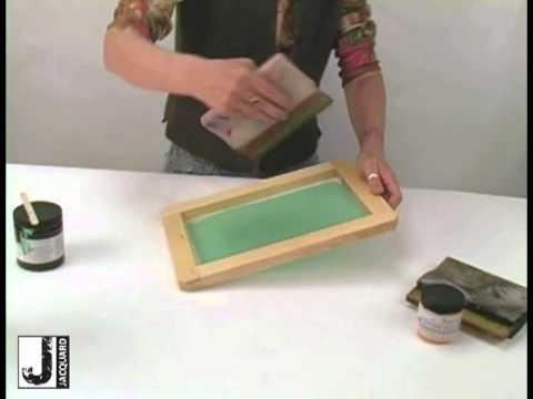 Preparing A Screen For Screen Printing Youtube