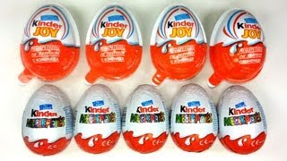 5 Kinder Surprise & 4 Kinder Joy Unboxing