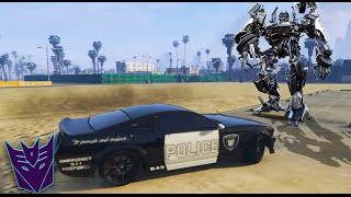 GTA V PC - Decepticon Barricade Paintjob MOD (Transformers)