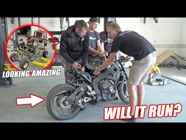Build Wars DAY 2: Buying a WRECKED 1000cc Street Bike for Our Golf Cart Build!! (SHE'S A RIPPER) thumbnail