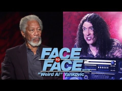 "Morgan Freeman & Michael Cera go Face to Face with ""Weird Al"" Yankovic"