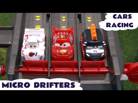 Disney Cars 2 Micro Drifters Racing Angry Birds Play Doh Planes Lightning McQueen Lego Simpsons