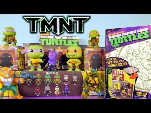 Teenage Mutant Ninja Turtle Pizza Box Playset Toy New Kidrobot TMNT Blind Box - Disney Cars Toy Club
