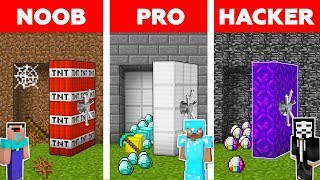 Minecraft NOOB vs PRO vs HACKER : SECRET VAULT CHALLENGE in minecraft / Animation