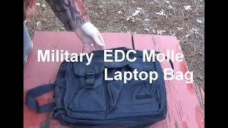 Rugged Molle EDC Laptop Bag & Two Molle Pouches
