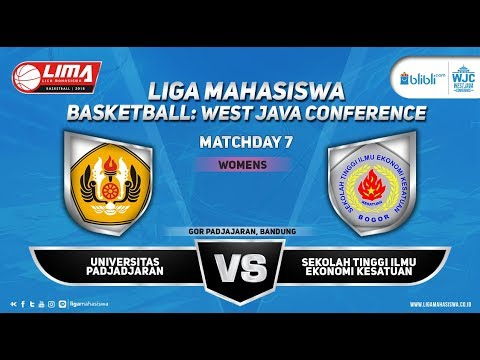 WOMEN'S UNIVERSITAS PADJAJARAN VS STIE KESATUAN LIMA BASKETBALL WJC 2018