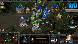Warcraft III #286 - ToD & Grubby 2v2 vs Undead&Orc (Lost Temple)