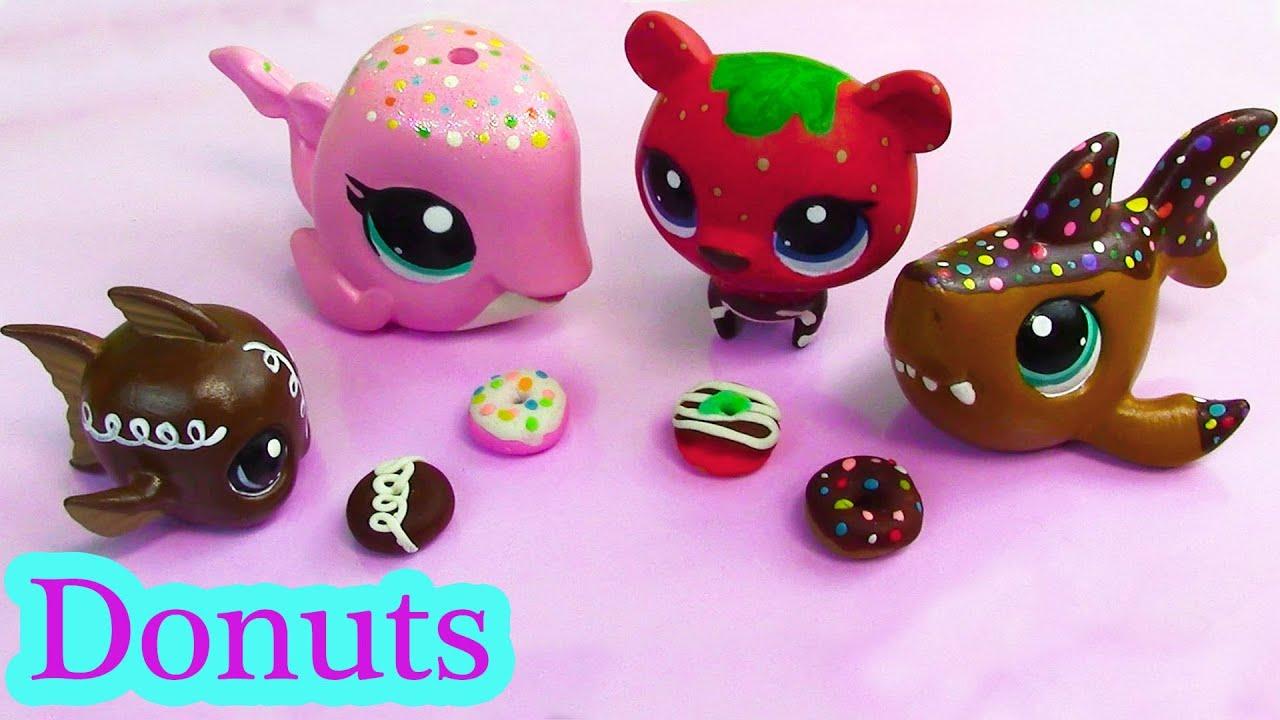 Littlest Pet Shop Play Doh DONUTS Custom DIY Mini LPS Food ...