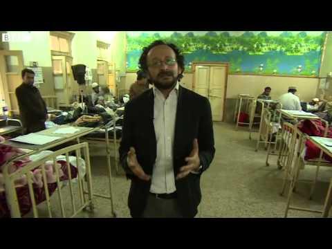 Afghan Pakistan earthquake injured treated in hospital