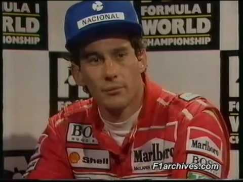 Stewart Interview Senna Ayrton Senna Interview he
