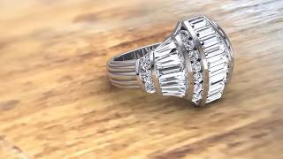 Art Deco Diamond Ring by Christopher Duquet Evanston Chicago Jeweler Store