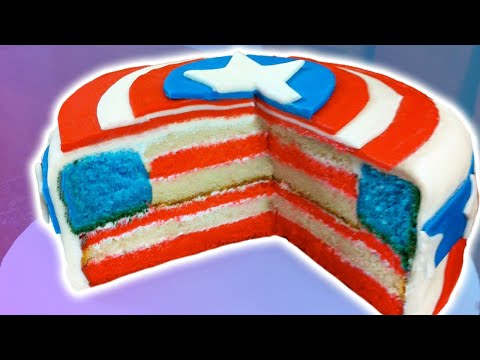 HOW TO MAKE A CAPTAIN AMERICA CAKE - NERDY NUMMIES