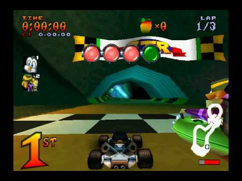 CTR Crash Team Racing, Penta Penguin VS Nitros Oxide in Ripper Roo's Challenge