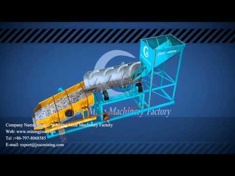 Mobile trommel scrubber and vibrating screen - Jiangxi Shicheng Mine Machinery Factory